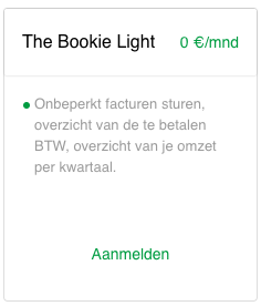 Boekhoudprogramma The Bookie App gratis testen